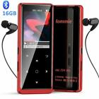 Hommie MP3 Player Bluetooth 16GB FM Radio HiFi Music Player with Touch Button