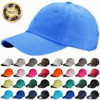 Plain Solid Hat Adjustable Washed Cotton Hats Polo Style Caps Baseball Ball Cap