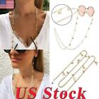 US Women Starfish Shell Pearl Glasses Chain Hanging Neck For Sunglasses Gift image