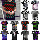 Funny Hypnosis 3D T-Shirt Men Women Colorful Print Casual Short Sleeve Tee Tops image