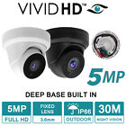 VIVID HD CCTV CAMERA 5MP DOME 30M 4IN1 OUTDOOR NIGHT VISION DEEP BASE BUILT IN
