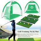 2/3M Golf Training Net Foldable Hitting Target Tent Cage Practice Driving Soccer