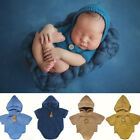 Newborn Baby Girl Boy Romper Crochet Hat Clothes Outfit Photography Photo Props