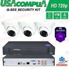 Q-See  4 CH HD Analog Security System 720p Cameras Weather-Proof UP TO 3TB