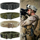 Mens Canvas Outdoor Tactical Belt Heavy Duty Army Waist Web Strap Waistband US