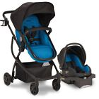 Reversible Stroller with Car Seat Baby Combo Set High Chair Playard Diaper Bag