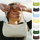 Small Mini Faux Leather Single Shoulder Bag Purse Baguette Vintage Pouch Hobo
