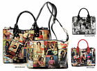 Obama Magazine Cover Collage 3-in-1 Satchel & Crossbody Set Michelle Obama Purse image