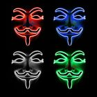 LED Light Mask V for Vendetta Anonymous Guy Fawkes Cosplay Halloween Funny Mask