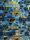 St. Louis Blues Stanley Cup Champions Cotton Fabric By the Yard $9.95 USD on eBay