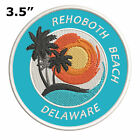 """Rehoboth Beach Delaware 3.5"""" Embroidered Patch Iron / Sew-On Souvenir Applique"""