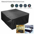 Waterproof Patio Furniture Cover Rectangular Garden Rattan Table Cover