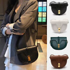 2 Szs Small/ Large Real Leather Shoulder Bag Flap Purse Saddle Crossbody Vintage
