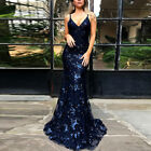 Womens Evening Formal Party Ladies Bridesmaid Lace Maxi Dress Prom Long Gown New
