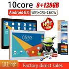 """10.1"""" Inch Tablet Pc Hd Android 8.0 8g 128g 10-core Google Wifi Dual Camera Gps"""