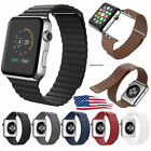 Magnetic Leather Loop Wrist Watch Band For Apple iWatch Series 4 3 2 1 38mm 42mm