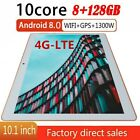 10,1 Zoll 4G-LTE 8GB+128GB WiFi/WLAN Tablet PC 10 Core Android 8.0 Dual Kamera