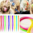 Women Lolita Rainbow Medium Wig Cosplay Hair Curly 35CM Ombre Multi-Color Party