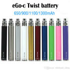 US STOCK Ego C Twist Variable Voltage Battery 650,900,1100,1300mAh+ Usb Charger