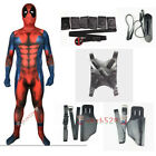 Avengers Deadpool Lycra Spandex Muscle lines Full Body Costume Halloween Cosplay for sale  Shipping to Canada