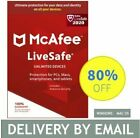 McAfee LiveSafe Unlimited Devices for 2/ 3/ 5 Years New or Renew Download