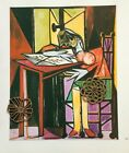 Vtg Picasso Art Print BOLD VIBRANT CONTRASTING COLORS ANALYTICAL CUBISM CUBIST