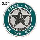 Oscar Mike Military Army Star Logo Embroidered Patch Iron / Sew-on Applique
