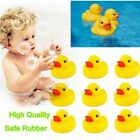10PCS Mini Yellow Bathtime Rubber Duck Ducks Bath Toy Squeaky Kids play gifts