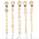 Pacifier Chain Kid Infant Dummy Pacifier Soother Nipple Wood Chain Clip Holder