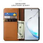 VRS Genuine Leather Card Pocket Diary Wallet Cover Galaxy Note 10 10+ Plus Case
