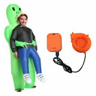 Inflatable Costume Green Alien Adult Kids Funny Blow Up Suit Party Halloween uk
