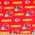 "Kansas City Chiefs NFL Cotton Fabric - 60"" Wide $18.95 USD on eBay"