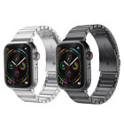For iWatch Series 5 44mm Apple Watch Stainless Steel Metal Band Wrist Strap image