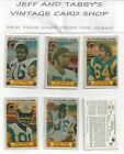 1980 Stop 'n Go NFL 3-D Football You pick from scans #1 to #48