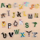 Cartoon Animal A-Z Alphabet Letter - Iron on Patches Embroidery Patch Kids Baby