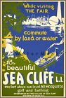 Seacliff Long Island 1939 World's Fair New York City Vintage Poster Print Art