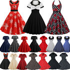 Kyпить Damen 50er Rockabilly Kleid Hepburn Petticoat Vintage Freizeit Party Skaterkleid на еВаy.соm
