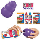 KONG Senior Purple Dog Toy Teething Chew Snack Easy Treat Dispenser Paste