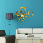 Modern Large Wall Clock DIY 3D Mirror Surface Sticker Decal Home Room Art Decor-