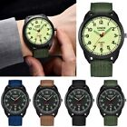 XINEW Outdoor Mens Watches Calendar Military Nylon Canvas Band Quartz Wristwatch image