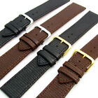 Real Leather Replacement Watch Strap Band Lizard Grain Black / Brown 16mm - 26mm