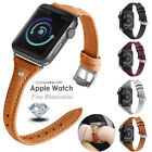 New Women Wrist Strap For Apple Watch Leather Diamond iWatch Band 38 42 40 44MM image