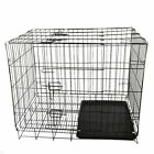 Puppy Pet Dog Cages Crate Foldable Carrier Transport Small Medium Large UT