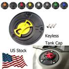 Motorcycle Fuel Gas Tank Cap Cover Aluminum Keyless For Yamaha YZF R25 2015-2019
