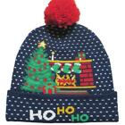 Christmas LED Light Hat Knit Adult Kid Unisex Xmas Party Beanie Cap Headgear