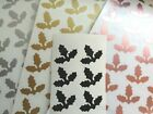 54 Xmas Christmas Holly, Inc.rose Gold Vinyl Decal Stickers Cards, Glass, Mats