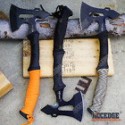 "14"" SURVIVOR BATTLE AXE OUTDOOR HUNTING CAMPING GEAR SURVIVAL KIT CORD WRAPPED"
