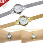Women Quartz Wrist Watches Small Dial Mesh Stainless Steel Bracelet Gold USA image