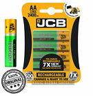JCB Rechargeable Batteries AA AAA NiMH Pre Charged 1200 2400 900mAh Long Life UK <br/> ✅RECHARGE 500 TIMES✅PRECHARGE TECHNOLOGY ✅LAST 5 YEARS✅