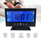 Alarm Clock Digital LCD Display Snooze Function Rectangle Shape Battery Powered